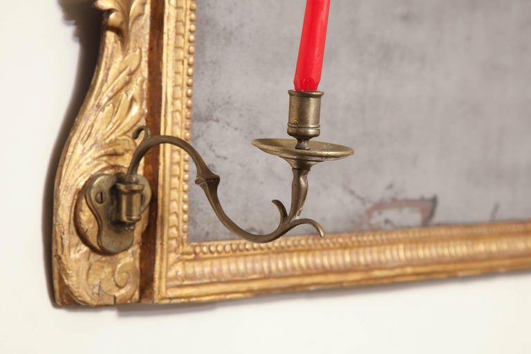 George III Giltwood over Mantel Mirror For Sale 4