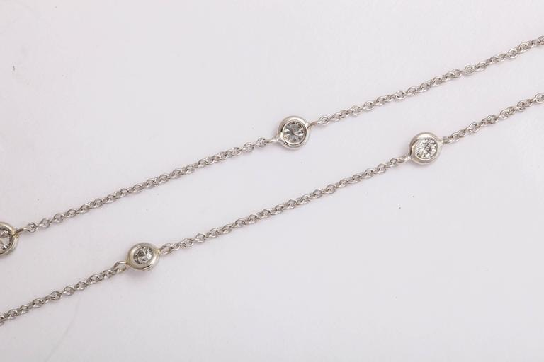 Classical Diamond by the Yard Platinum Chain Necklace 3