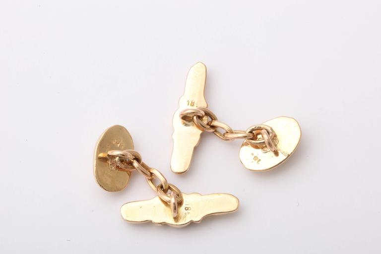 Women's or Men's 19th Century Gold Tragedy and Comedy Cufflinks For Sale