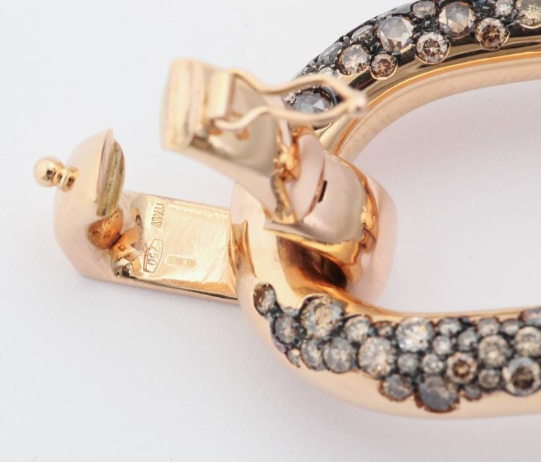 Cognac Diamond Rose Gold Bracelet For Sale 3