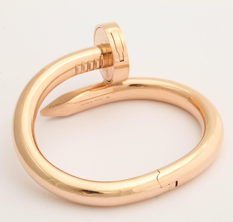 Cartier Gold Nail Bracelet For Sale at 1stdibs