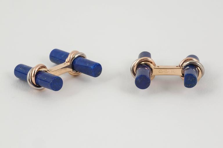 Cartier 750 gold and coloured stone baton cufflinks set at ...