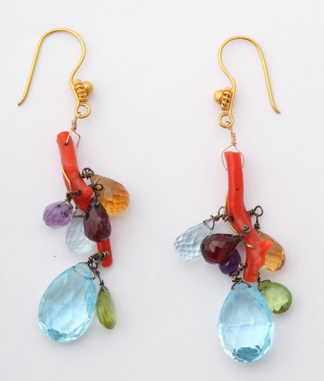 Coral Semi Precious Stone Necklace Set 8