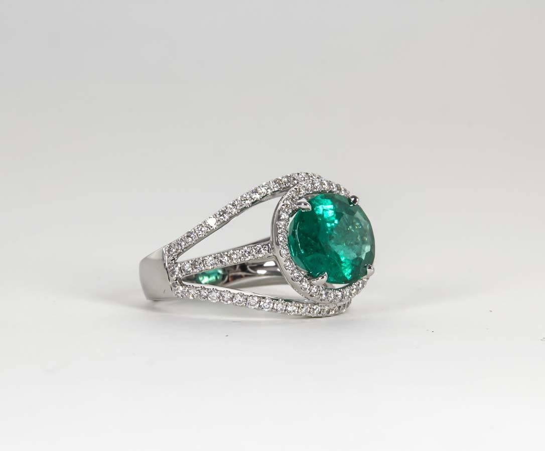 contemporary green emerald gold ring for sale at
