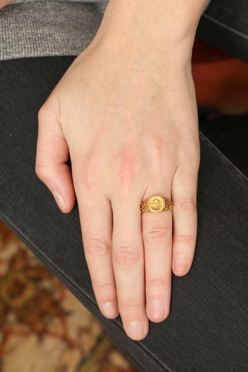 Diamond Gold Locket Ring for Sweet Thoughts 7