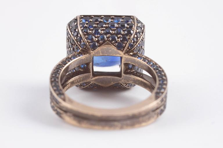 """Solange 6.00 ct Blue Sapphire Gold """"Cup"""" Ring 5"""