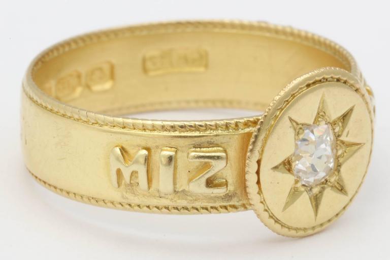 Diamond Mizpah Ring For Sale At 1stdibs