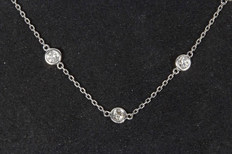 2.29 Carat Diamond Gold Diamond by the Yard Necklace 2