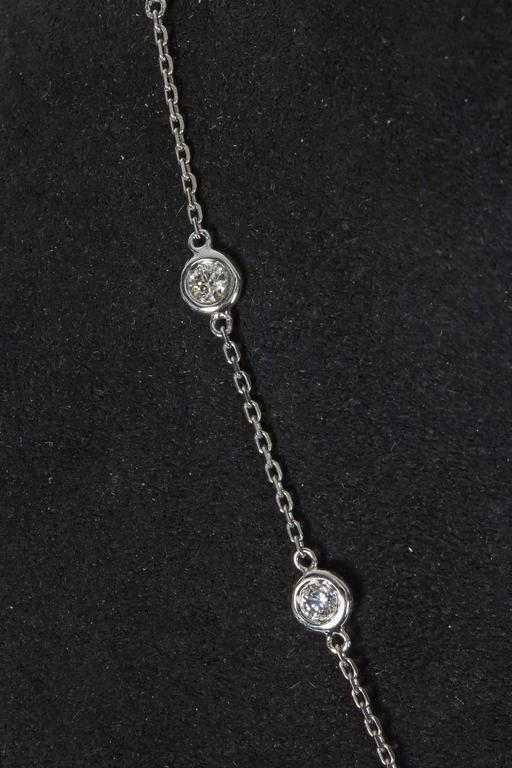 2.29 Carat Diamond Gold Diamond by the Yard Necklace 3