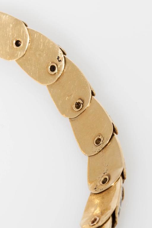 Women's 1950s Mexican Enamel Gold Snake Set  For Sale
