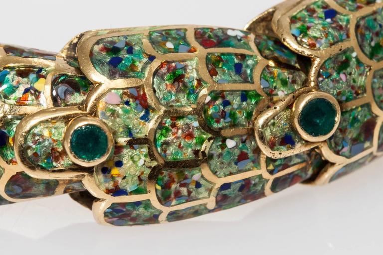 1950s Mexican Enamel Gold Snake Set  For Sale 4