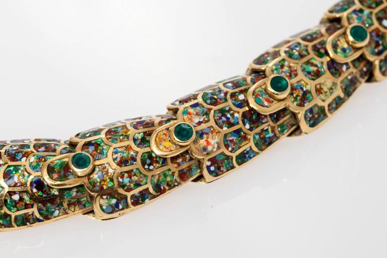 1950s Mexican Enamel Gold Snake Set  For Sale 6