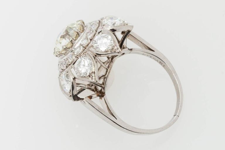 Women's Bulgari Diamond Gold Engagement RIng  For Sale