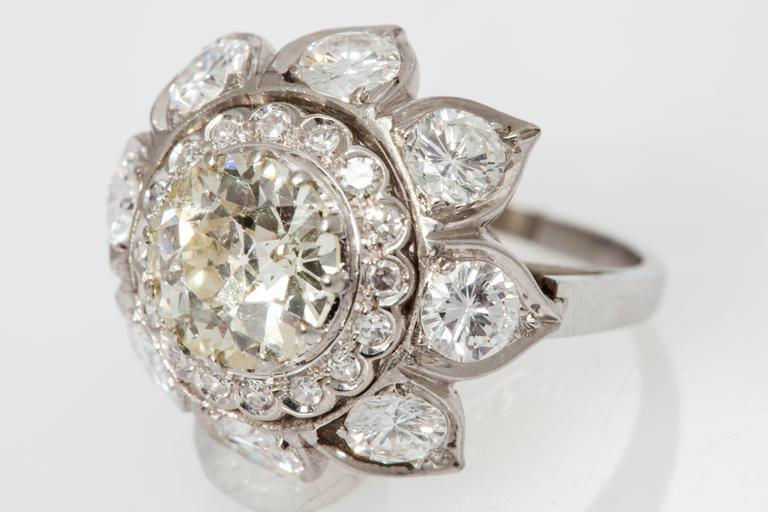 Bulgari Diamond Gold Engagement RIng  For Sale 1