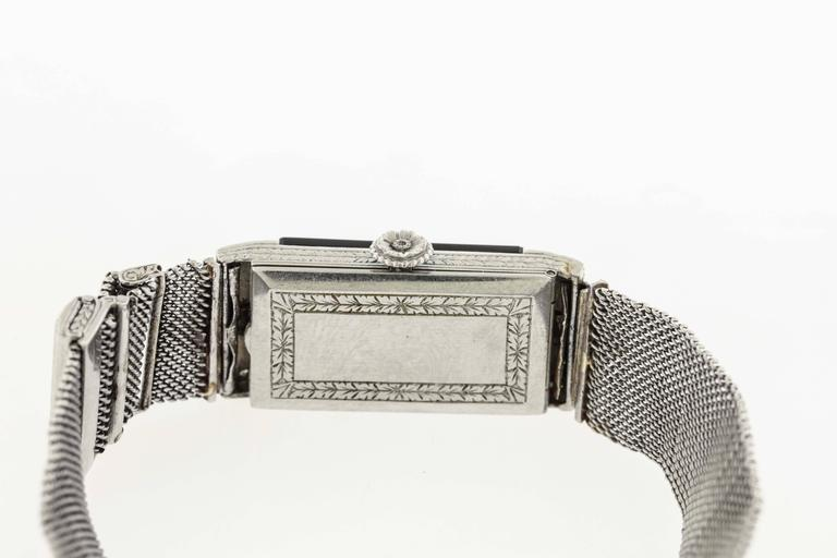 Patek Philippe for Tiffany & Co. Lady's Platinum Wristwatch For Sale 2