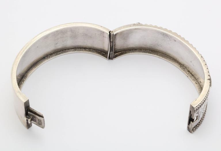 Antique Victorian Sterling Silver Corset Bracelet  c. 1870 For Sale 3