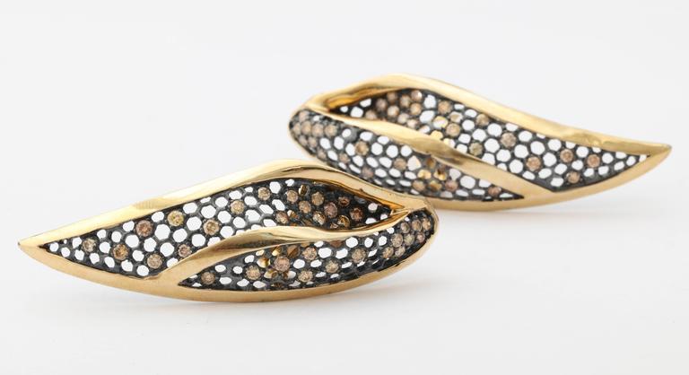 Marilyn Cooperman Leaf Earrings For Sale 1