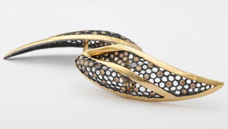 Marilyn Cooperman Leaf Earrings For Sale 2