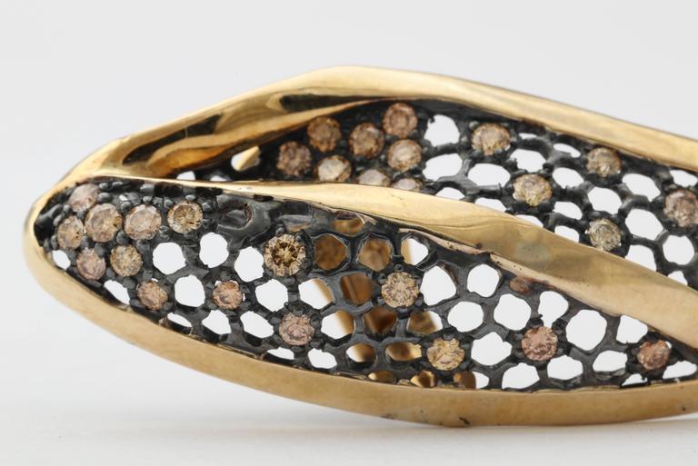 Marilyn Cooperman Leaf Earrings For Sale 3