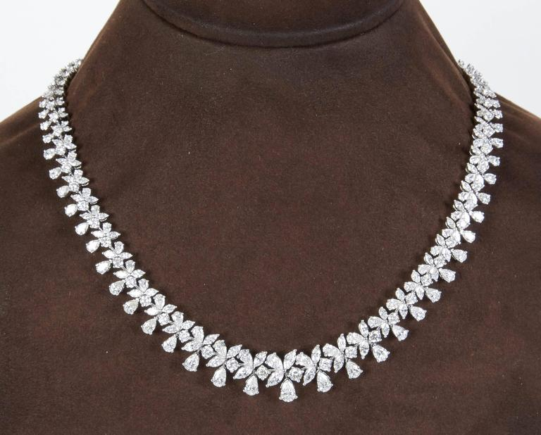 Classic 26 Carat Diamond Necklace In New Condition For Sale In New York, NY