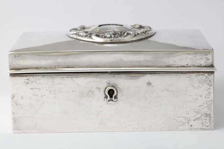 Women's or Men's 19th Century American Silver Love Letter Box For Sale