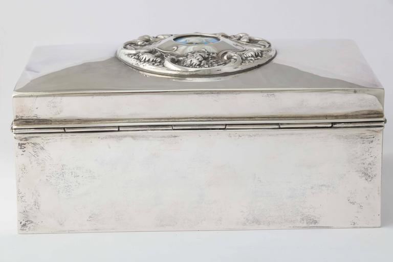 19th Century American Silver Love Letter Box For Sale 2