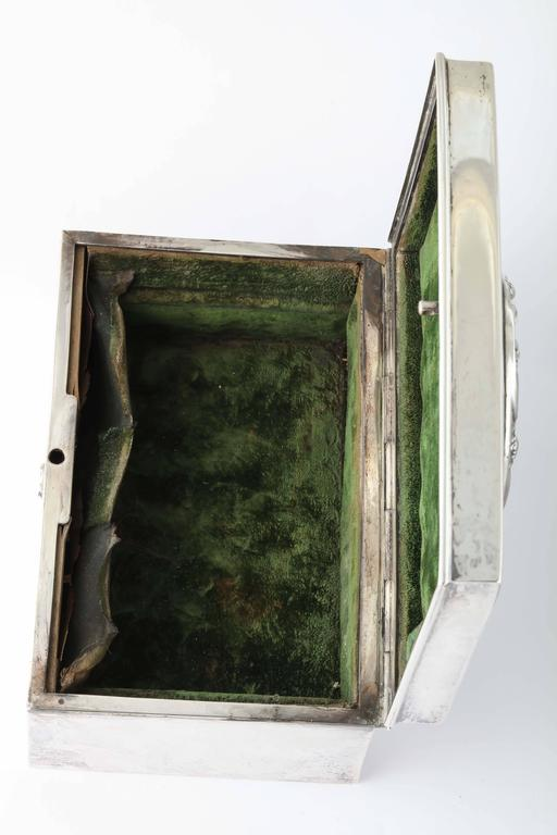 19th Century American Silver Love Letter Box For Sale 4