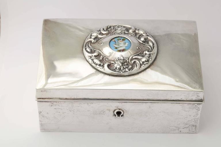 19th Century American Silver Love Letter Box For Sale 6