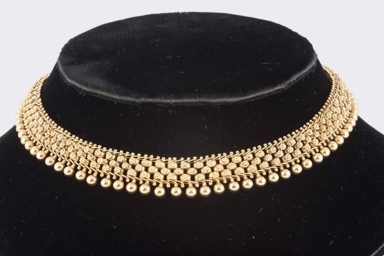 19th Century English Gold Collar Necklace 2