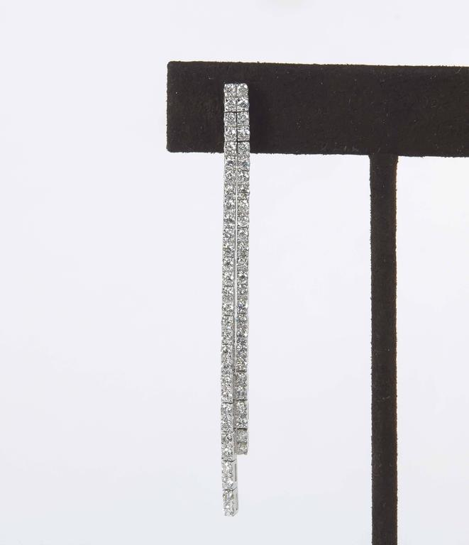 Contemporary Diamond Line Dangle Earrings 2