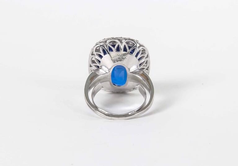 Rare GIA Certified 15 Carat Burma No Heat Natural Sapphire Ring 4