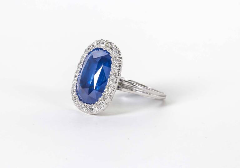 Women's Rare GIA Certified 15 Carat Burma No Heat Natural Sapphire Ring For Sale