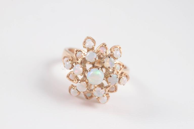 Gold Opal Harem Ring 2