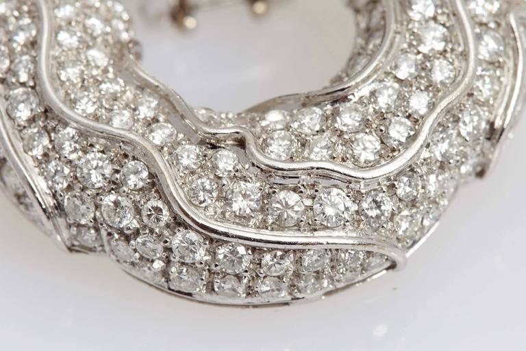 1980s Jahan Diamond Gold Ear Pendants  For Sale 2