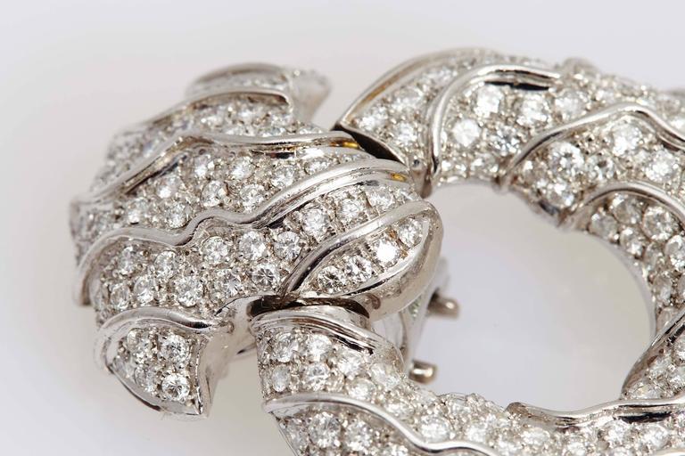 1980s Jahan Diamond Gold Ear Pendants  For Sale 3