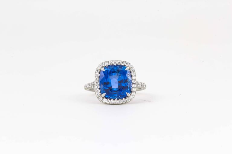An incredible sapphire ring!! Fabulous color and sparkle!!