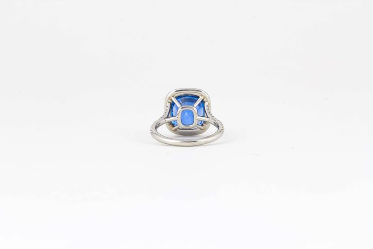 Incredible AGL Certified 6.50 Carat Ceylon Sapphire Ring For Sale 1