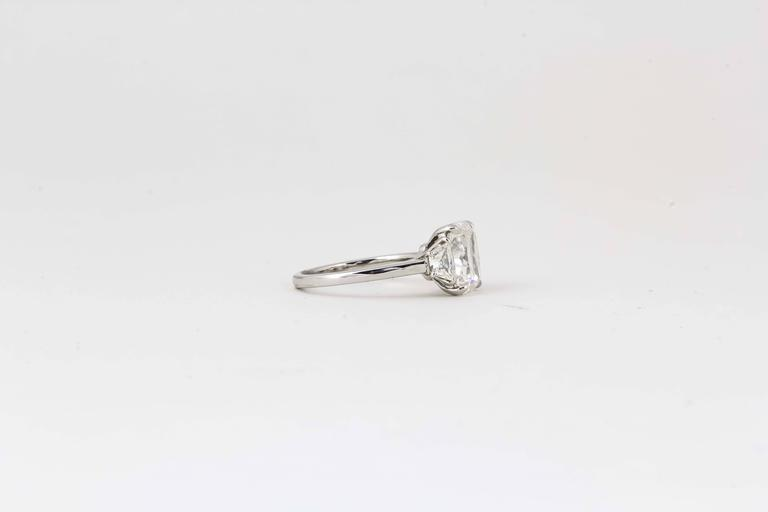 3 Carat GIA Radiant Cut Diamond Engagement Platinum Ring In New Condition For Sale In New York, NY