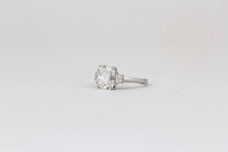 3 Carat GIA Radiant Cut Diamond Engagement Platinum Ring For Sale 1