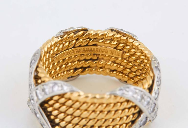 Diamond Quot X Quot Gold Band Schlumberger For Tiffany And Co At