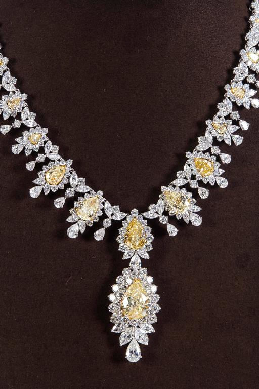 Magnificent Yellow Diamond Necklace  2