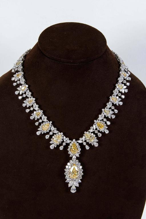 Magnificent Yellow Diamond Necklace  3