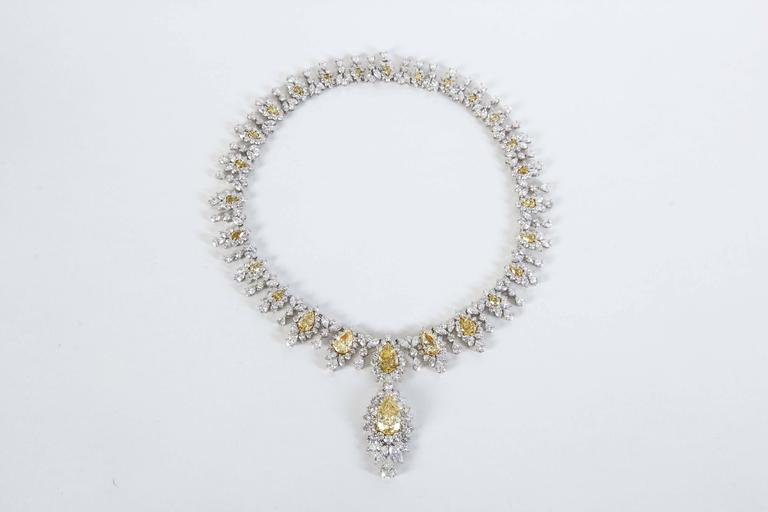 Magnificent Yellow Diamond Necklace  4