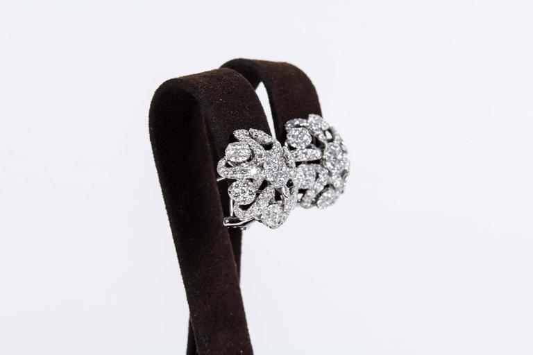Diamond Scene 2.98 Carat Diamonds Gold Button Earrings In New Condition For Sale In New York, NY