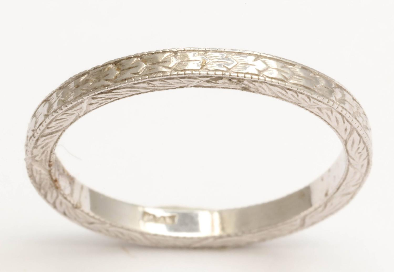 engraved platinum wedding band for sale at 1stdibs