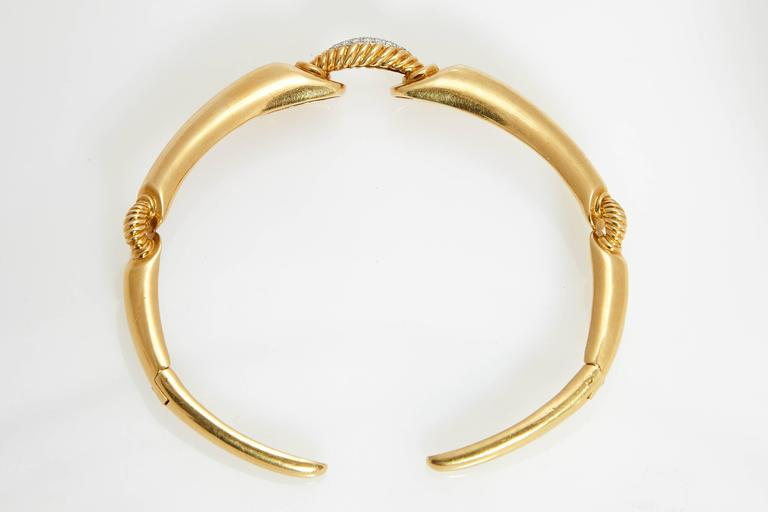 1970s Tiffany & Co.  Diamond Gold Choker Necklace 4