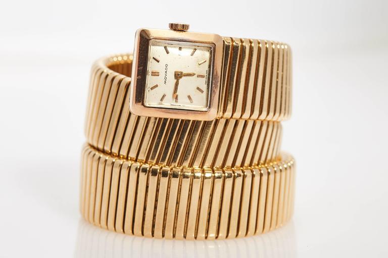 Women's Bulgari Ladies Yellow Gold Tubogas Wristwatch