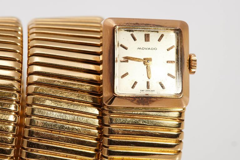 Bulgari Ladies Yellow Gold Tubogas Wristwatch  2