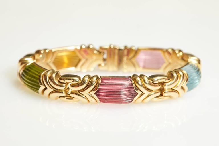 Women's Bulgari Alveare Tourmalines Gold Set  For Sale