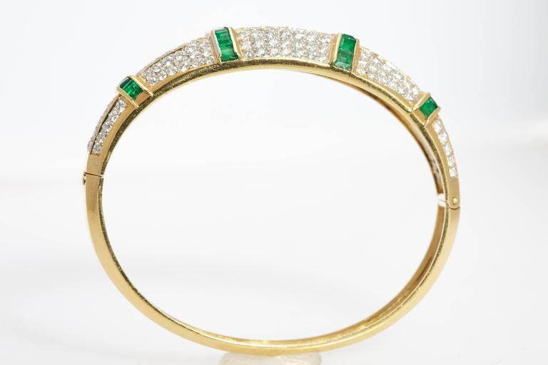 Emerald Diamond Bracelet  For Sale 2